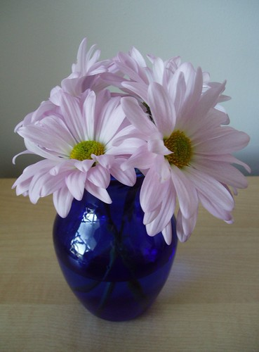 small vase with flowers