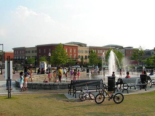 Suwanee Georgia's town center.