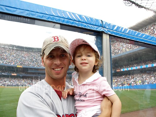 Daddy and Daughter already at odds over baseball