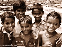 (Stuti ~) Tags: india sepia kids children grandmother five mumbai banganga bigmomma thechallengefactory