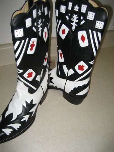 Playing Card Cowboy Boots