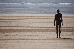 'Another Place' the Antony Gormley figure, Crosby Beach