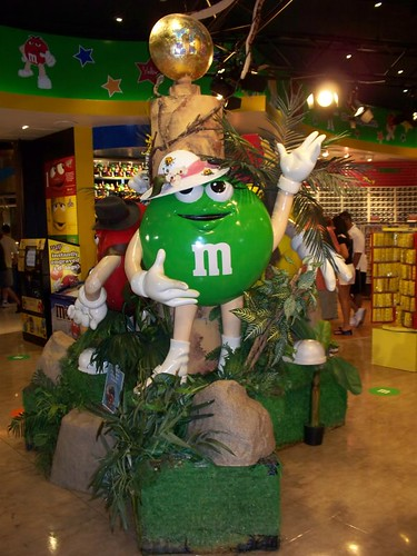 Green M&M as Marion Ravenwood