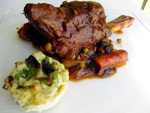 Savory Ricotta & Brussel Sprout with Lamb Shank