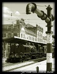 Agua y Vapor (Pepelu_Sevillano) Tags: tren agua y postal museo vapor coches aguada locomotora ferrocarril renfe aranjuez costas fresa anden fotografos ferroviarios