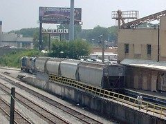 CSX Transportation Co switching local at work. Forest Park Illinois. June 2007.