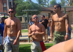 SanDPride 104 (danimaniacs) Tags: shirtless hot sexy pecs tattoo muscular bare chest hunk abs sandiegogaypride2008