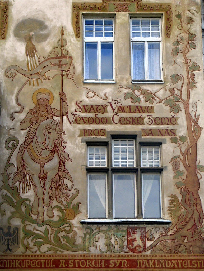 Art nouveau wall painting