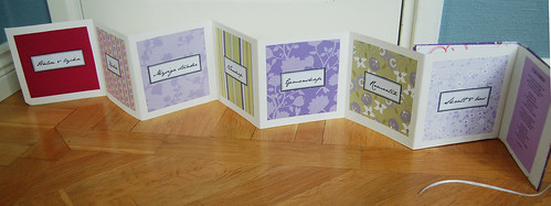 Purple Handmade Wedding Card