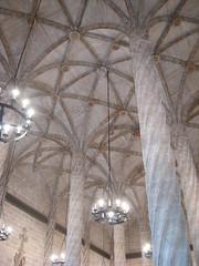 ceiling of La Lonja