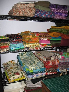 Reorganized Fabric Stash