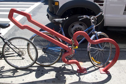 David Byrne Bike Rack on Bedford Street