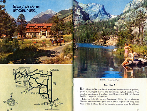 Rocky Mountain NP page, Colorado Tourism Brochure, c. 1956 ...