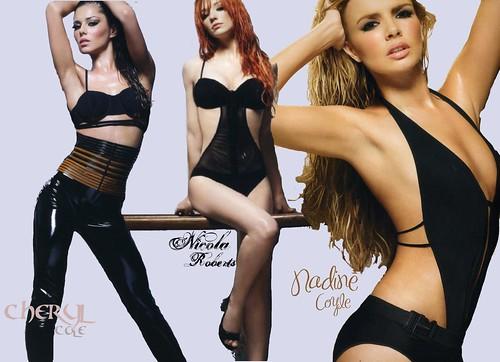 Cheryl Cole, Nicola Roberts, Nadine Coyle - bandmates of Girls Aloud