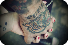 Holding Hands (jami_lee) Tags: rock stars holding hand tiger tattoos holdinghands punx