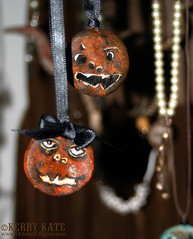 Rusted Jack-o-lantern Ornaments