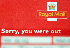 Royal Mail - Sorry you were out card
