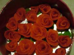 DSCF3468 (Matthew Garrett) Tags: birthday roses marzipan