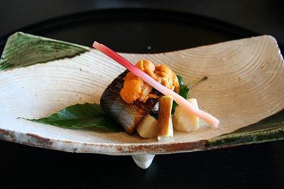 焼物 秋刀魚雲丹焼