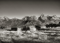 Mormons Row #21BWT (Crick3) Tags: park barn grand national wyoming teton hdr digitalinfrared tbg tonemapped quadtoned moultons pickyourpoison mormonsrow