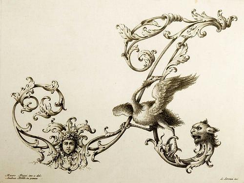 19-Letra A- Poggi Mauro 1750 - Alfabeto di lettere iniziali