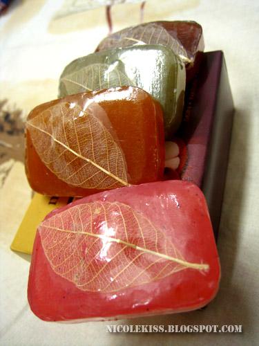 dragonfruit, citrus, lemongrass and mangosteen soaps