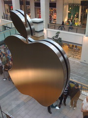 The back of the Apple logo.