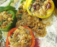 Stuffed Bell Peppers with Rice