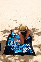 beach blanket Hawaii (theLook) Tags: beach blanket towel hat womanhawaii honeymoon kauai island