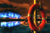 Clyde & Armadillo (BoboftheGlen) Tags: uk bridge water night river scotland clyde lifebelt theatre glasgow south walkway southside armadillo auditorium