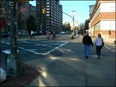 Chromosomes (Rachel Pincus) Tags: street nyc newyork walking holding hands couple elderly gothamist caustics