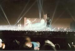 Jean Michel Jarre Destination Docklands Concert 1988 (Spitfire13) Tags: uk london concert fireworks 1988 docklands searchlights jeanmicheljarre