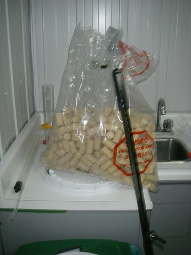 a bag of corks