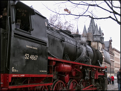 Historische Eisenbahn (#MariaOrtega) Tags: train germany tren main alemania altstadt frankfurtammain epoca epoque historischeeisenbahn