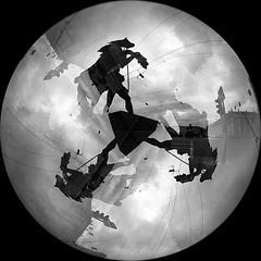 Anichkov (big_fellow) Tags: blackandwhite film stpetersburg nikon sigma fisheye multipleexposure 135 f80 8mm ilford ilfordxp2400super xp2s club16