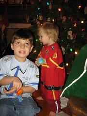 Escher the Firefighter & Jonas the Police Officer (Oliver Hine) Tags: christmas escher jonas