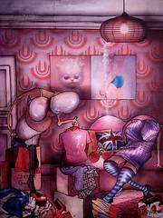 """""""C'est l't!..."""" (Jeremie Baldocchi) Tags: art rose collage illustration t jeremie couleur encre color illustrateur vtement contemporain baldocchi"""