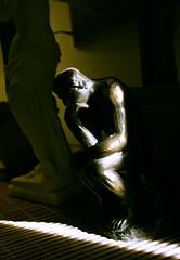 "Rodin's ""The Thinker"" in Light (J.M.C.) Tags: light sculpture art statue bronze miniature artistic melodramatic rodin thethinker greatphoto"