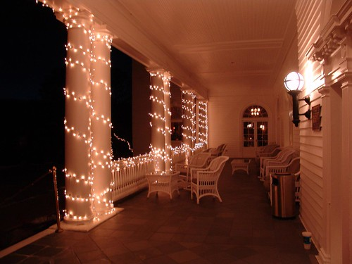 Night Shots of Stanley Hotel @ Christmas Time