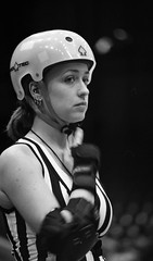 The REF (rfmueller) Tags: blackandwhite bw film 35mm candid rollerderby raleigh diafine analogue skates dortonarena nikonfe2 flattrack carolinarollergirls pushedto1600 aristaii400 maeqcry
