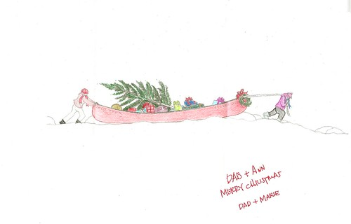 xmas canoe (by ann-dabney)