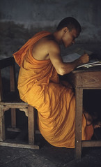 Cambodia/ Monk (Crick3) Tags: travel people cambodia monk places archives lieca isadore berson 50s80s