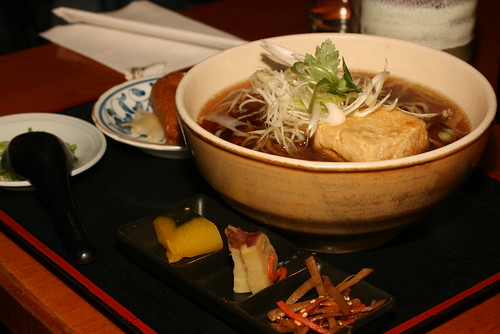 Fried Tofu Hot Soba