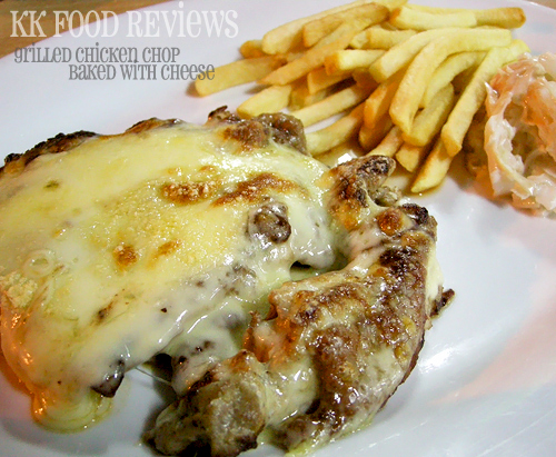 Grilled Chicken Chop with Cheese