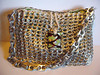Fish Scale Purse (Pop Top Lady) Tags: aluminum crochet reciclagem pulltabs croche lacres trashion poptops recycledupcycled