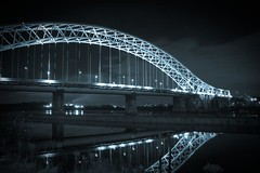 Widnes Runcorn Bridge Selenium Tone (MarkLandonPhotography) Tags: christmas longexposure family night photoshop canon eos cheshire lightroom loggerheads runcorn widnes grimupnorth 40d efs1755mmf28 widnesruncornbridge lightroom2
