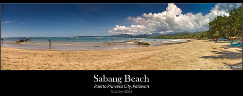 Sabang Beach Panorama