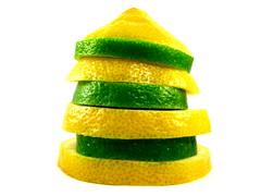 Lemon-Lime (sweetgoddess71) Tags: stilllife macro green yellow fruit lemon stripes stack whitebackground citrus lime slices