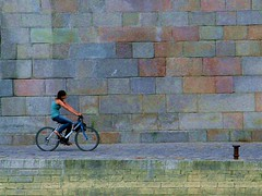 United Colors ~ The Blue Bike ~ Paris ~ MjYj (MjYj) Tags: blue music paris film colors bike mine united son swing amour sound belle donne temps bonne ado bicyclette vlo laetitia usine musique bleue aile clou casta 3728 plomb tincelle mjyj