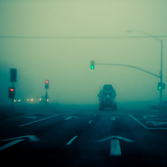 Follow Me (TheJbot) Tags: california road street morning light fog traffic foggy napa signal jbot thejbot